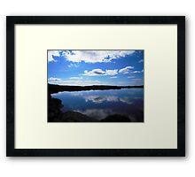 NI lake Framed Print