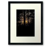 7 star ******* Lappland sunset - Sweden. Brown Sugar Story. Framed Print