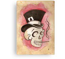 Tophat Skullie Canvas Print