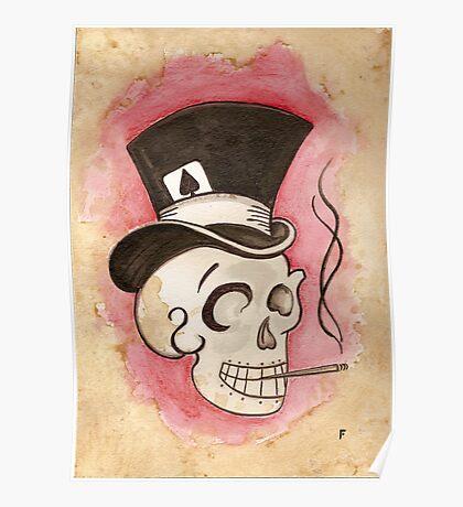 Tophat Skullie Poster