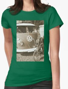 Old dragster Womens Fitted T-Shirt
