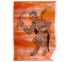 Orange Devil Poster