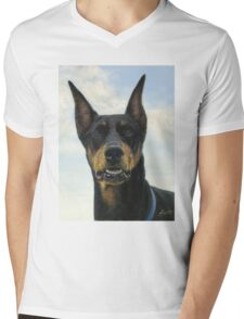Doberman Pinscher  Mens V-Neck T-Shirt