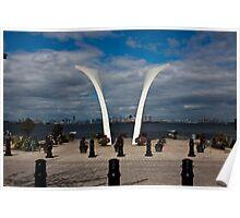 9/11 Memorial on Staten Island, New York. Poster