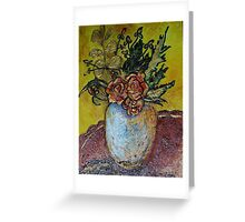 Textured Floral Greeting Card