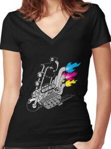 Grim Hellraiser Rides Again Women's Fitted V-Neck T-Shirt