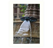 Gremlins Fountain Art Print