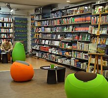 Reading corner in a bookstore by Arie Koene