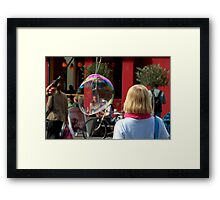 Paris - Blond, Red and Bubble... Framed Print