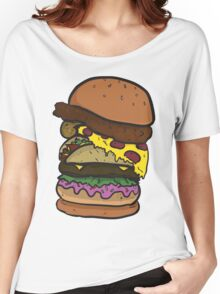 The Ham-chick-za-aco-nut-burger! Women's Relaxed Fit T-Shirt