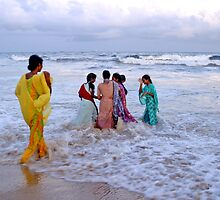 Saris in the Surf by PeterDamo