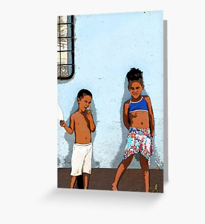 The usual suspects, Trinidad, Cuba Greeting Card