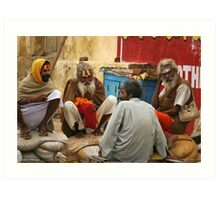 Sadhus chatting Art Print