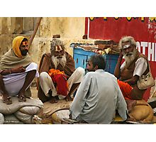 Sadhus chatting Photographic Print