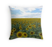 Acres of Sunflowers Throw Pillow