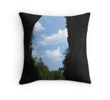 View of Natural Bridge Throw Pillow