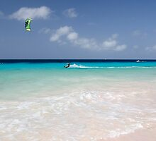 Kite Surfing, Atlantis Beach, Bonaire by Kasia-D