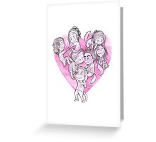 Heart Pile Greeting Card