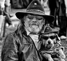 Man and his dog by Jeffrey  Sinnock