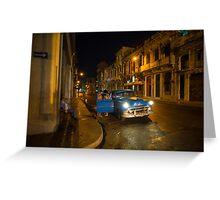 Night Taxi  Greeting Card