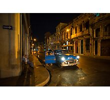 Night Taxi  Photographic Print