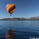 Ballooning over Lake Tahoe by Grace Anthony Zemsky