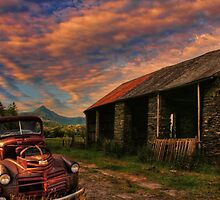 Pickup truck Americana in Wales by Chris Evans