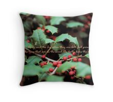 Smithsonian Holly Throw Pillow