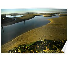 low tide. gippsland coast - victoria Poster