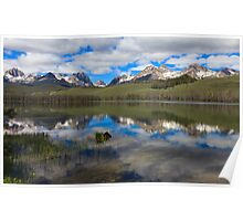 Little Redfish Lake Reflection Poster