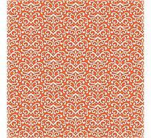 Orange Damask Photographic Print