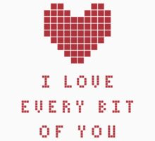 I love every bit of you by Stock Image Folio