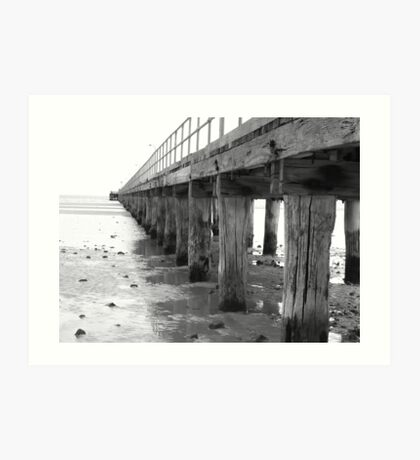 Beside the Silver Jetty Art Print