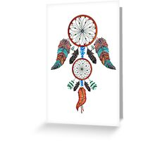 DREAM CATCHER ON WHITE Greeting Card