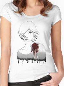 Ink girl Women's Fitted Scoop T-Shirt