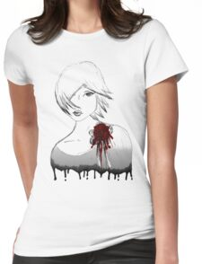 Ink girl Womens Fitted T-Shirt