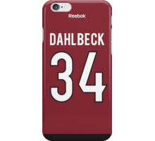 Arizona Coyotes Klas Dahlbeck Jersey Back Phone Case iPhone Case/Skin