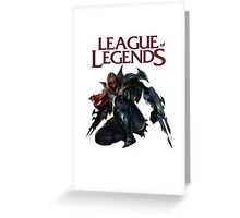 League of Legend - Zed Greeting Card