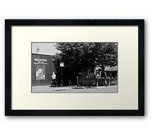 deli corner Framed Print