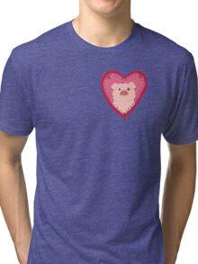 i love waddles patch Tri-blend T-Shirt