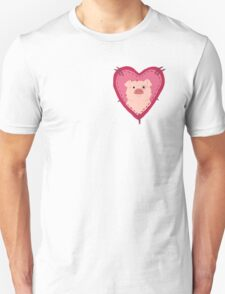 i love waddles patch Unisex T-Shirt