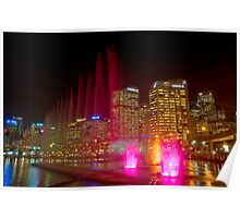 Water and light, Darling Harbour, Sydney Poster