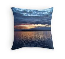 Puget Sound Sunset Throw Pillow