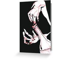 Drunken Hands Greeting Card
