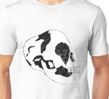 Black and White Skull  Unisex T-Shirt