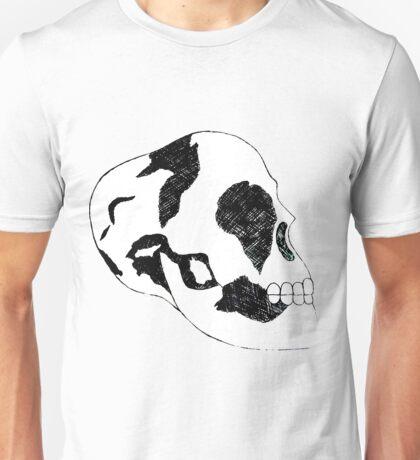 Black and White Skull  Unisex T-Shirt