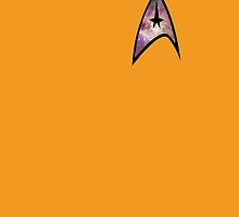 Cosmic Star Trek Insignia in Yellow by donatepurple