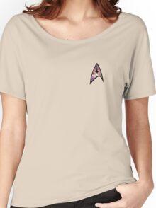 Cosmic Star Trek Insignia in Yellow Women's Relaxed Fit T-Shirt