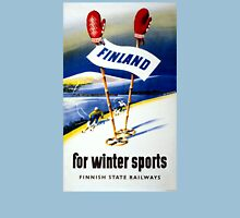 Finland Vintage Travel Poster Restored Unisex T-Shirt