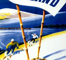 Finland Vintage Travel Poster Restored Sticker